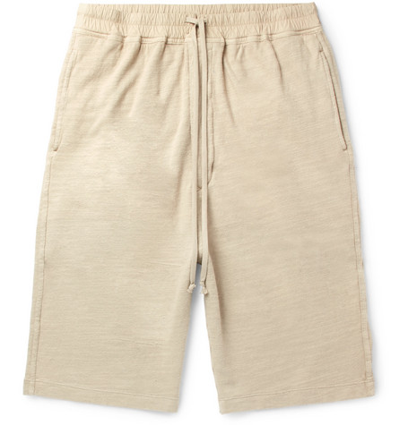 Slub Loopback Cotton-jersey Drawstring Shorts