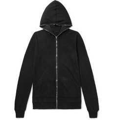 Rick Owens Fleece-Back Cotton-Jersey Hoodie