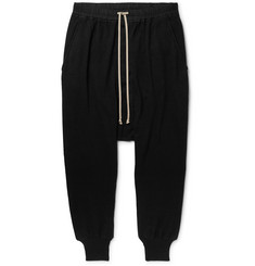 Rick Owens DRKSHDW Tapered Cotton-Jersey Sweatpants