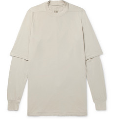 Rick Owens DRKSHDW Oversized Layered Cotton-Jersey T-Shirt