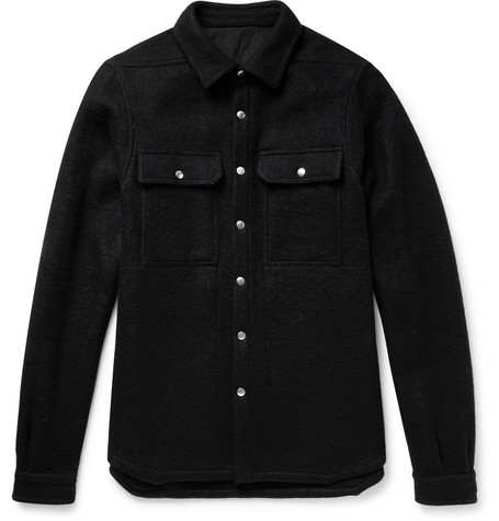 Boiled Wool Overshirt by Rick Owens