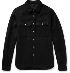 Rick Owens Boiled Wool Overshirt