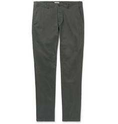 Tomas Maier Slim-Fit Tapered Brushed Stretch-Cotton Chinos