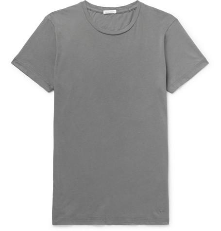 Tomas Maier Organic Cotton-jersey T-shirt - Gray lTblZ