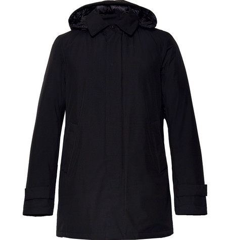 HERNO LAMINAR Waterproof Gore-Tex Hooded Jacket in Black