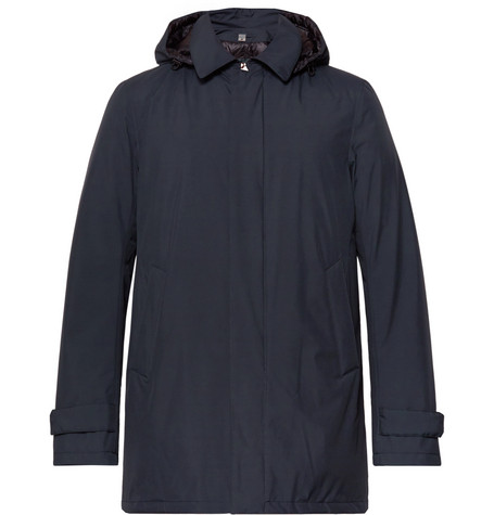 HERNO LAMINAR Waterproof Gore-Tex Hooded Jacket - Blue