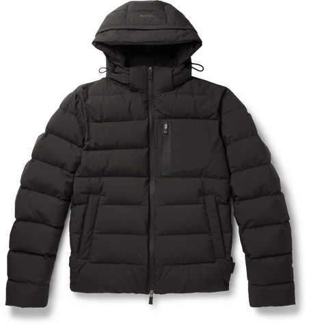 HERNO LAMINAR Windstopper Quilted Gore-Tex Jacket in Black