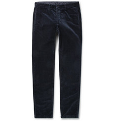 Massimo Alba Winch Slim-Fit Cotton-Velvet Trousers