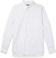 Balenciaga Oversized Striped Cotton-Poplin Shirt