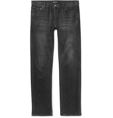 Slim-fit Coated Stretch-denim Jeans