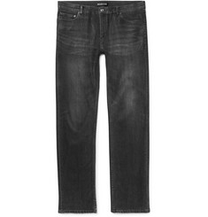 Balenciaga Slim-Fit Coated Stretch-Denim Jeans