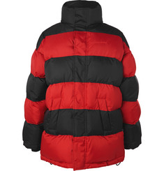 Balenciaga Oversized Striped Quilted Shell Down Jacket