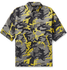 Balenciaga - Oversized Camouflage-Print Brushed Cotton-Twill Shirt