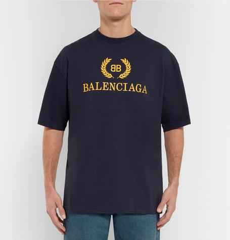 Logo Print Cotton Jersey T Shirt by Balenciaga