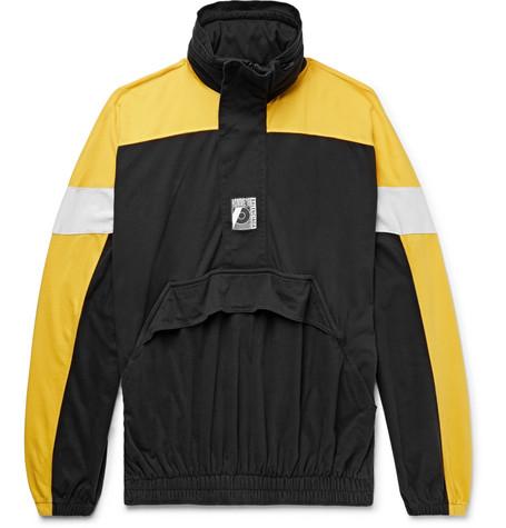 Hoodie Black Oversized Half Cotton Colour Block Balenciaga Jersey Zip x0fO8qww