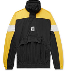 Balenciaga Oversized Colour-Block Cotton-Jersey Half-Zip Hoodie