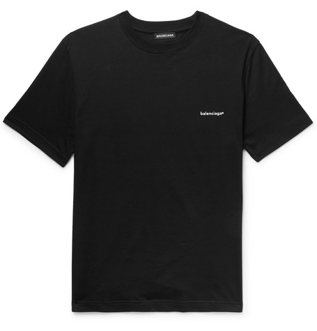 38ed983e3b21 Balenciaga - Logo-Print Cotton-Jersey T-Shirt