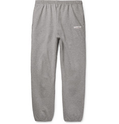 Balenciaga Tapered Logo-Print Loopback Cotton-Jersey Sweatpants