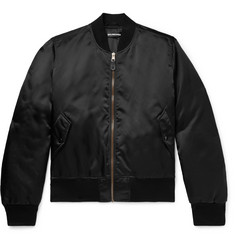 Balenciaga Embroidered Shell Bomber Jacket