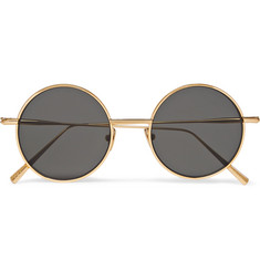 Acne Studios - Scientist Round-Frame Gold-Tone Sunglasses