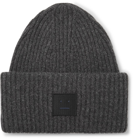 Ribbed Wool Blend Beanie by Acne Studios