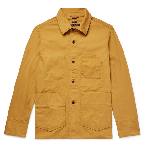 FREEMANS SPORTING CLUB Washed Cotton-Canvas Jacket