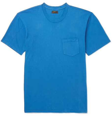 FREEMANS SPORTING CLUB Cotton-Jersey T-Shirt in Blue