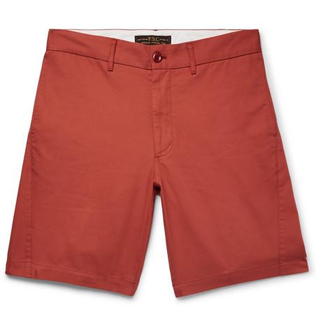 FREEMANS SPORTING CLUB Cotton-Twill Shorts in Brick
