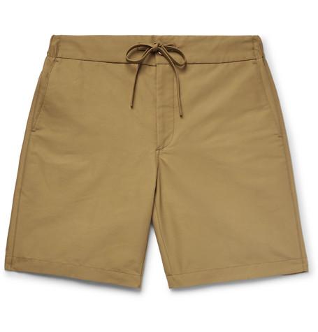 FREEMANS SPORTING CLUB Cotton-Blend Gabardine Drawstring Shorts