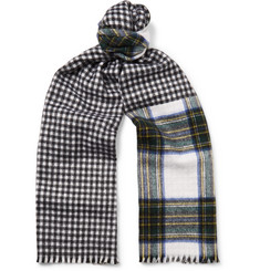 Berluti Reversible Checked Cashmere Scarf