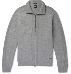 Hugo Boss Wool Zip-Up Sweater