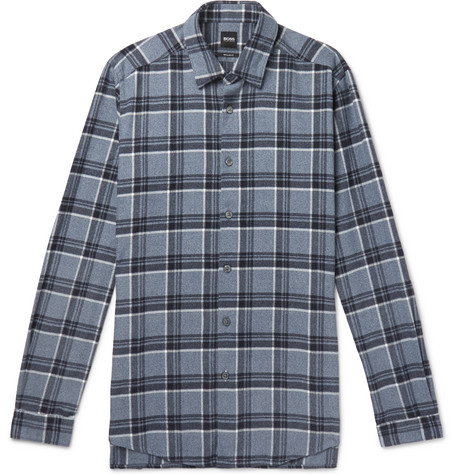 bd1cd74c1 Hugo Boss - Checked Cotton-Flannel Shirt