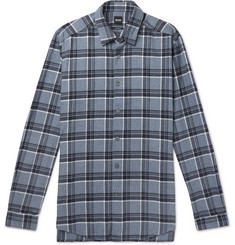 Hugo Boss Checked Cotton-Flannel Shirt