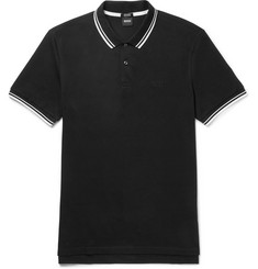 Hugo Boss Contrast-Tipped Pima Cotton-Piqué Polo Shirt