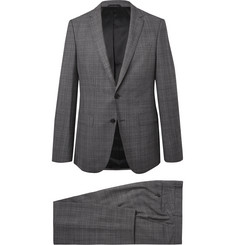 Hugo Boss Grey Nestro/Byte Slim-Fit Prince of Wales Checked Virgin Wool Suit