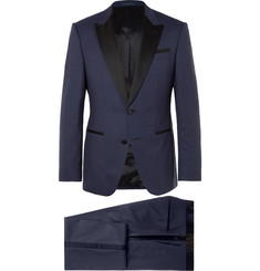 Hugo Boss Navy Helward Gelvin Slim-Fit Wool and Silk-Blend Tuxedo