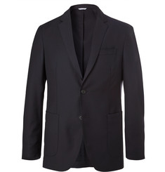 Hugo Boss Navy Unstructured Virgin Wool Suit Jacket
