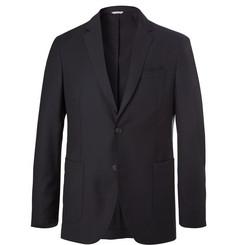 Hugo Boss Navy Unstructured Virgin Wool Suit Jacket,Navy