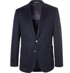 Hugo Boss Navy Janson Slim-Fit Cashmere Blazer
