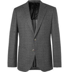 Hugo Boss Grey Janson Basketweave Wool Blazer