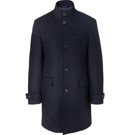 Hugo Boss – Sintrax Virgin Wool And Cashmere-blend Coat – Navy