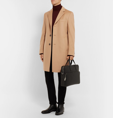Virgin Wool And Cashmere Blend Coat by Hugo Boss