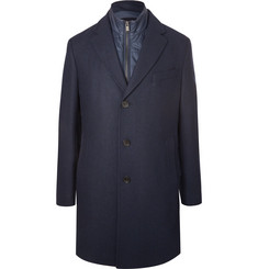 Hugo Boss Nardim Checked Wool-Blend Coat with Detachable Gilet