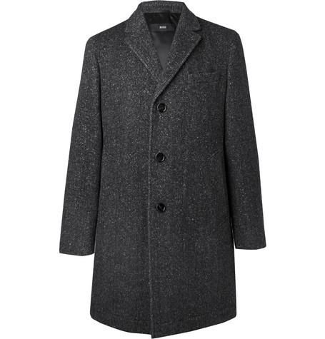Shawn Slim-fit Herringbone Virgin Wool-blend Coat