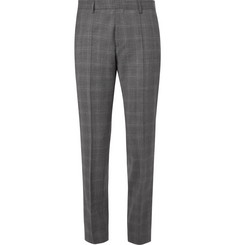 Hugo Boss Genesis Slim-Fit Prince of Wales Checked Stretch-Wool Trousers