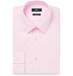 Hugo Boss - Light-Pink Isko Cotton-Poplin Shirt