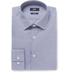 Hugo Boss - Jenno Navy Gingham Cotton Shirt