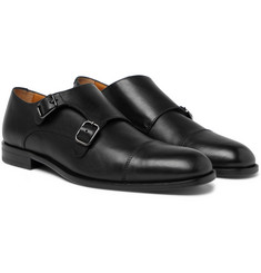 Hugo Boss - Cardiff Leather Monk-Strap Shoes