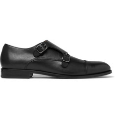 Hugo Boss Cardiff Leather Monk-Strap Shoes