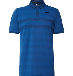 Nike Golf Striped Zonal Cooling Jersey and Mesh Golf Polo Shirt